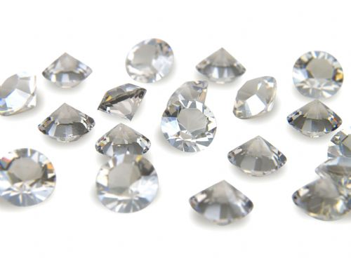 Pk 100 Swarovski Unfoiled Table Crystals, Style 1028, SS24 (5.5mm), Silver Shade